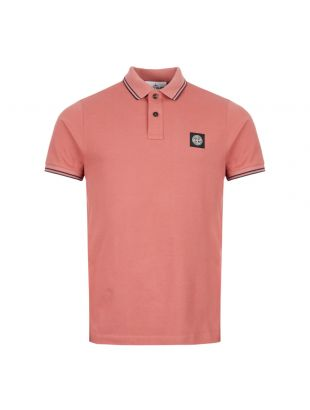 stone island polo shirt 711522S18 V1013 coral