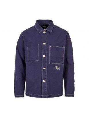 stussy chore jacket 115436 NAVY navy