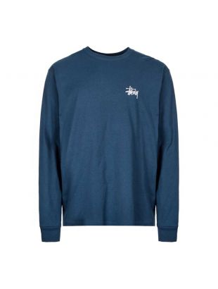stussy long sleeve t-shirt 1994416 NAVY navy