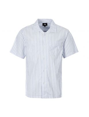 Stussy Short Sleeve Shirt 1110042 Blue Stripe