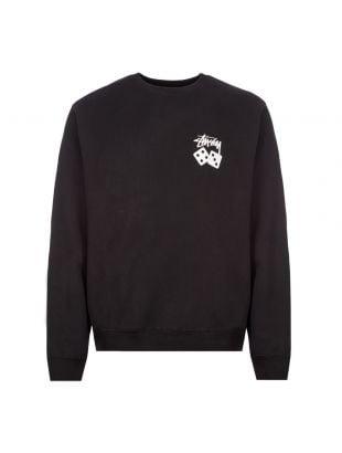Stussy Sweatshirt Dice 1914460 BLACK Black