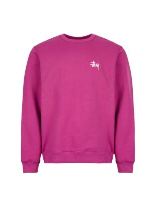 Stussy Sweatshirt 1914381 BERRY In Berry Pink