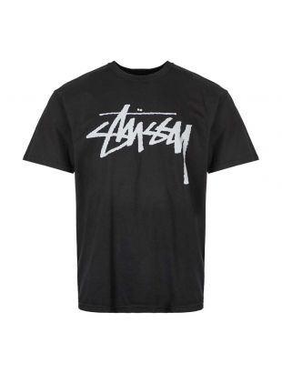 stussy stock t-shirt 1904442 BLACK black