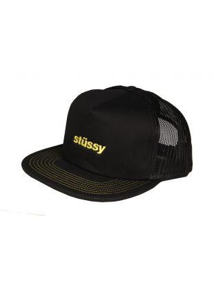 stussy trucker cap 131781 BLK black