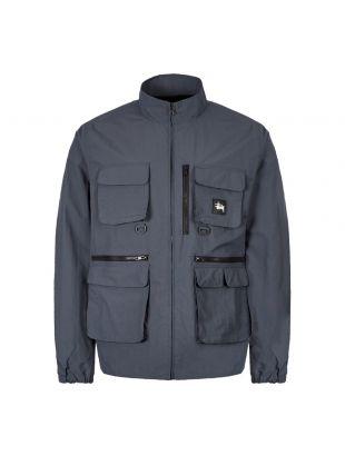stussy utility jacket 115455 SLATE slate blue