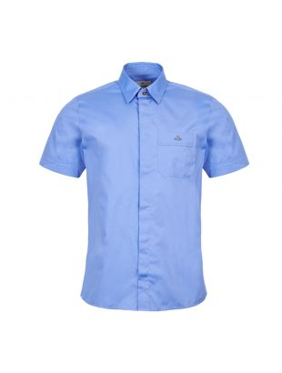 Vivienne Westwood Short Sleeve Shirt | S25DL0445 S47899 491 Blue