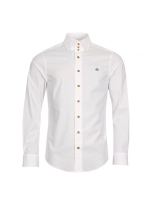 Vivienne Westwood 3 Button Collar Shirt S25DL0427 S47979 100 White