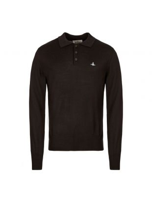 vivienne westwood knitted polo shirt S25HA0422 S16833 900 black