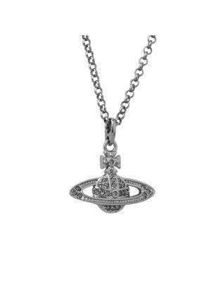 Vivienne Westwood Mini Bas Pendant Necklace   75107B 4 Pewter   Aphrodite Clothing