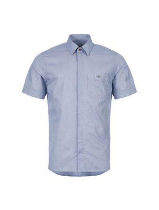 Vivienne Westwood Short Sleeve Shirt | S25DL0456|001F Dark Blue