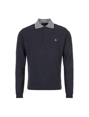 Vivienne Westwood Polo Shirt | Long Sleeve S25GL0016 S23142 524 Navy