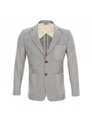 Pattern Blazer Jacket - Grey