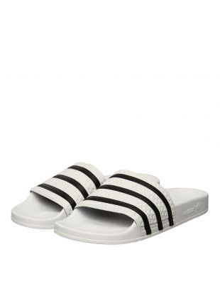 Adilette Slides - White / Black / White
