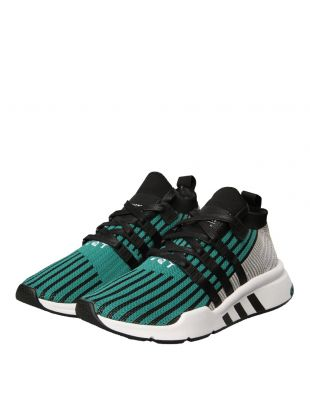 EQT Support Mid ADV Trainers - Black / Sub Green