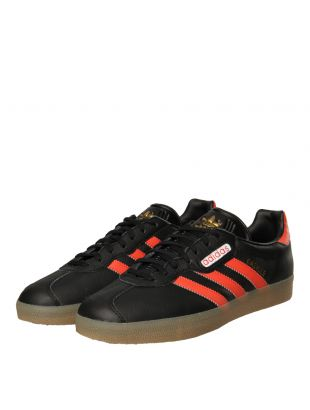 Gazelle Super Trainers - Black / Scarlet