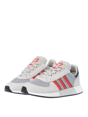 Marathon Tech Trainers - Raw White / Grey / Red