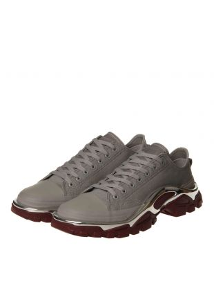 Detroit Runner Trainers - Grey / Silver / Maroon