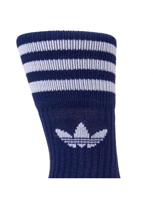 Two Pack Socks - White/Navy