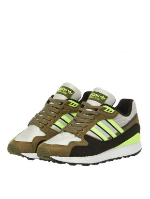 Ultra Tech Trainers - White/Yellow/Khaki