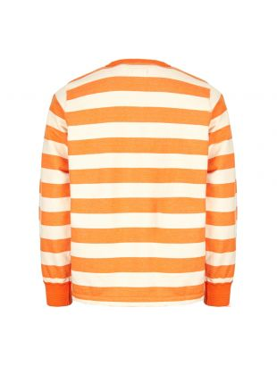 Sweatshirt Ribless - Orange / Ecru Stripe