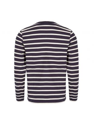 Long Sleeve T-Shirt – Off White / Navy