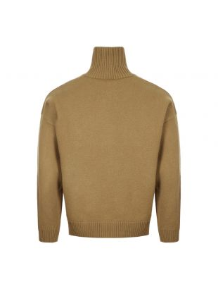 Polo Neck Jumper - Beige