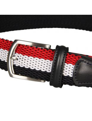 Woven Belt - Navy/Red/White