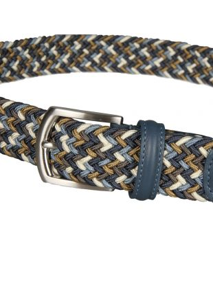 Woven Belt - Blue / Brown