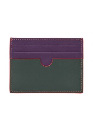 Card Holder -  Dark Green / Purple