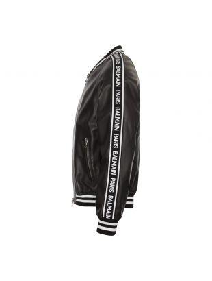Bomber Jacket – Black Leather