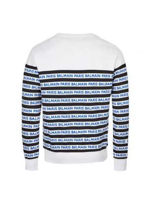 Sweatshirt - White / Navy Striped