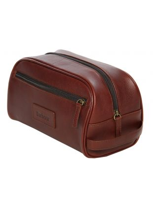 Washbag - Brown Leather