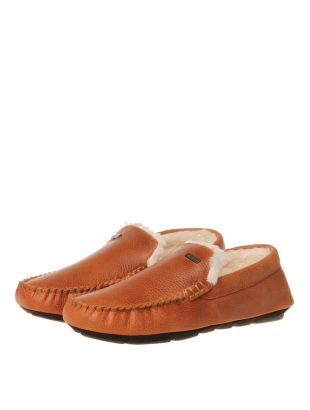 Monty Leather Slippers - Tan