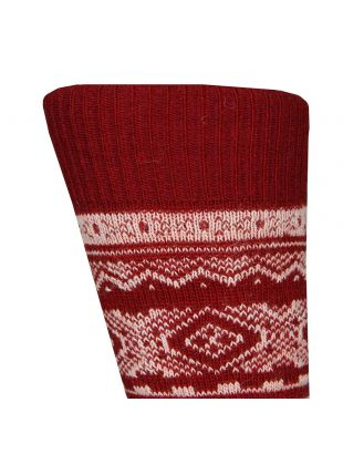 Socks - Fairisle Red