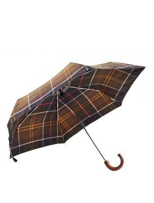 Mini Classic Umbrella - Brown Tartan