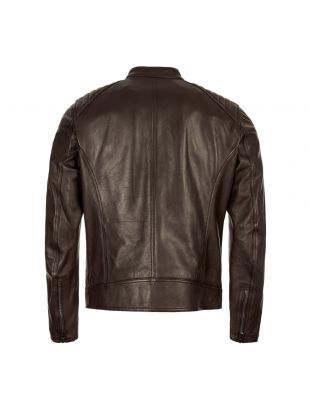 Leather Jacket V Racer – Dark Brown