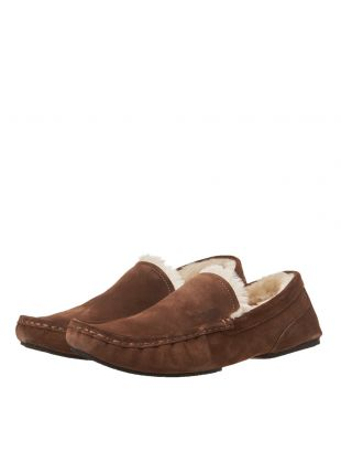 Moccasin Slippers - Medium Brown