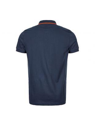 Athleisure Polo Shirt - Navy / Orange