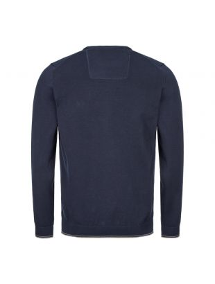 Athleisure Knitted Sweatshirt - Navy