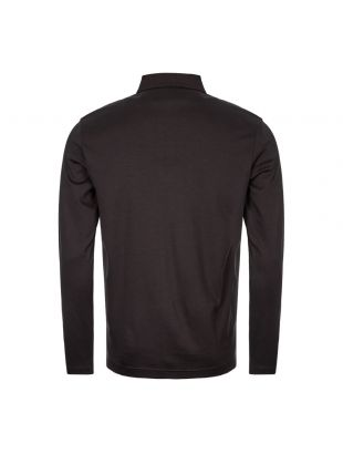 Athleisure Long Sleeve Polo Shirt - Black