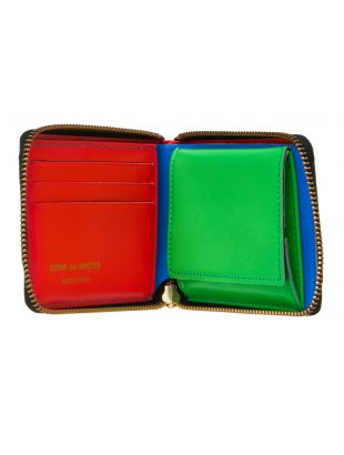 Super Fluo Zip Wallet - Blue