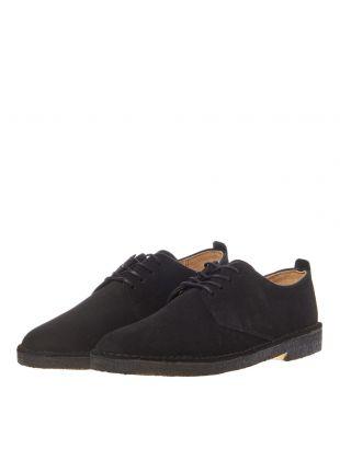 Desert London Shoes - Black Suede