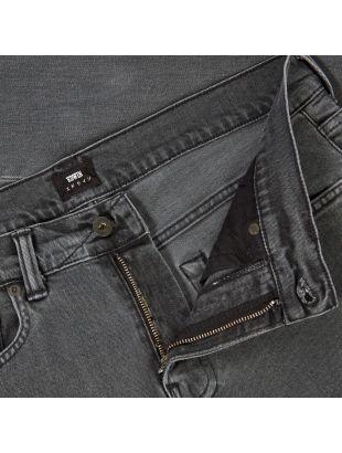 ED-80 Slim Tapered Jeans - Black Bristol Wash