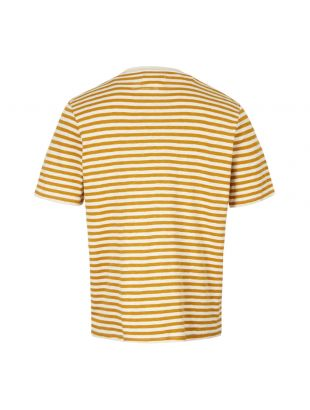 T-Shirt – Ecru / Golden Yellow Stripe