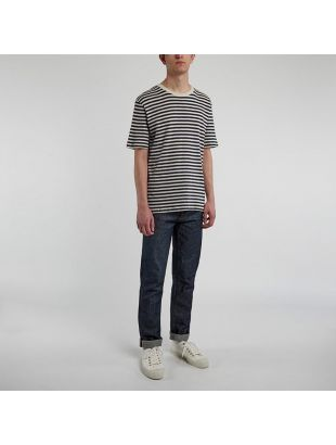 T-Shirt – Ecru / Navy Stripe