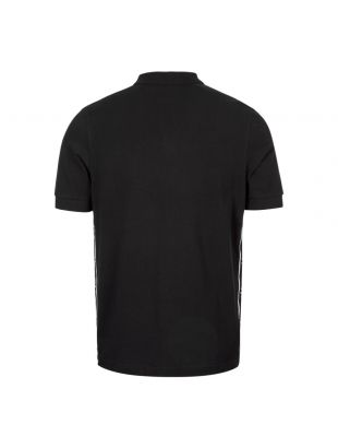 Polo Shirt Taped Side - Black