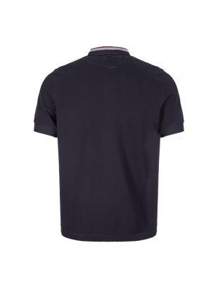 Polo Shirt Stripe Collar - Navy