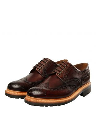 Archie Brogue - Handpainted Brown