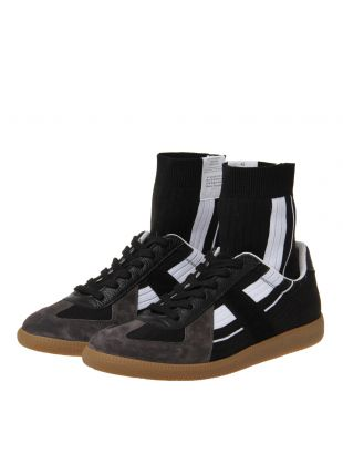 Replica Sock High Trainers - Black / White