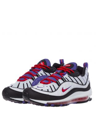Air Max 98 Trainers - White / Psychic Purple